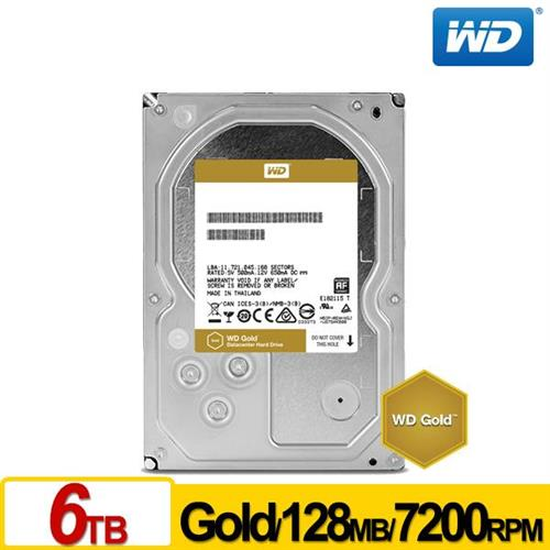 WD 金標 3.5吋 6TB SATA3 企業級硬碟 WD6002FRYZ
