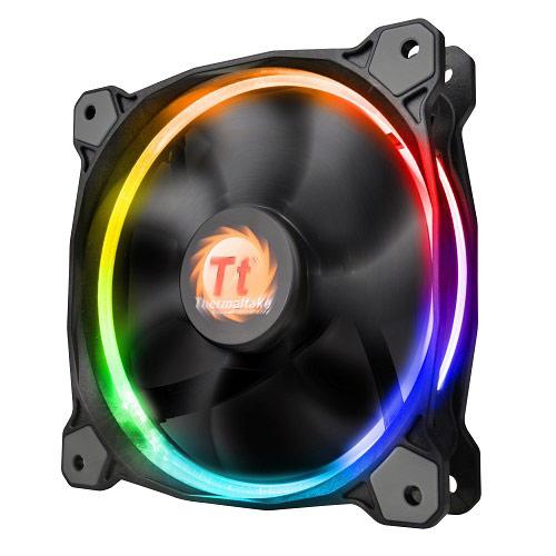 Thermaltake曜越 Riing高風壓RGB 彩色變化12公分水冷排風扇