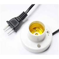 聲/光控感應燈座(E27電源扁線)