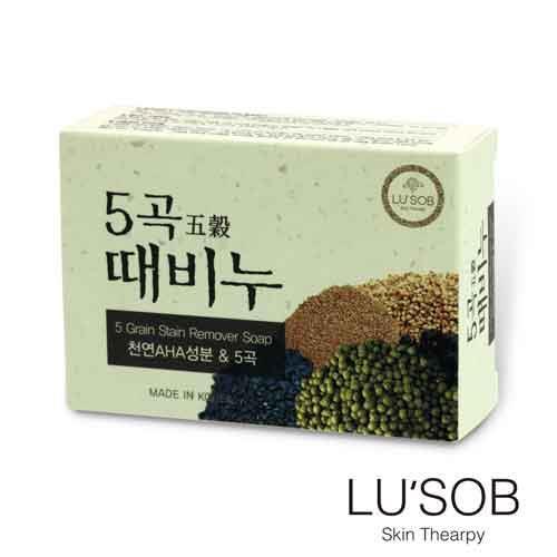 韓國LUSOB搓仙密器五穀晶肌皂^(1入^)