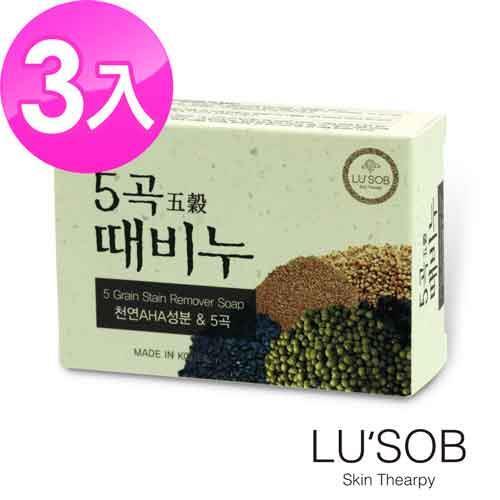 韓國LUSOB搓仙密器五穀晶肌皂^(3入^)