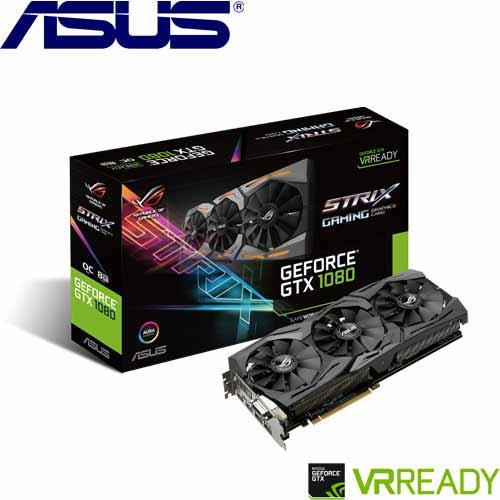 ASUS華碩 GeForce® STRIX-GTX1080-O8G-GAMING 顯示卡