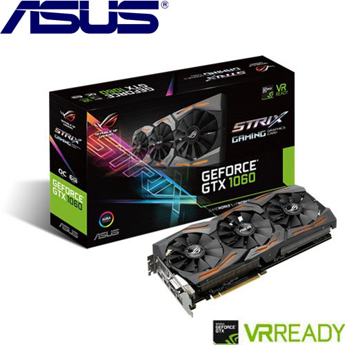 ASUS華碩 GeForce® STRIX-GTX1060-O6G-GAMING 顯示卡