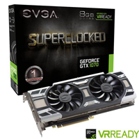 EVGA艾維克 GeForce® GTX 1070 8G SC BP ACX3.0 顯示卡