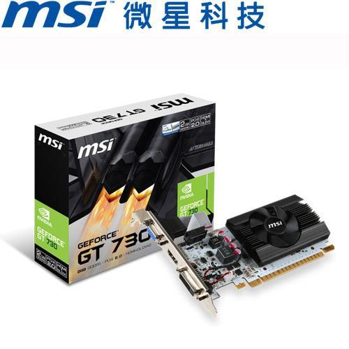 MSI微星 GeForce® N730K-2GD5LP/OCV1 顯示卡