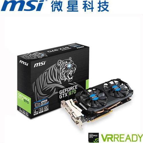 MSI微星 GeForce® GTX 970 4GD5T OC 顯示卡