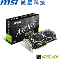 MSI微星 GeForce® GTX 1060 ARMOR 3G OCV1 顯示卡