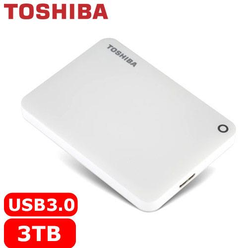 TOSHIBA CanvioConnectII V8 2.5吋 3TB行動硬碟-白