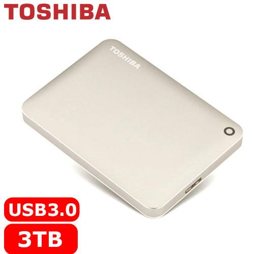 TOSHIBA CanvioConnectII V8 2.5吋 3TB行動硬碟-金