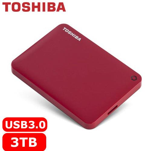 TOSHIBA CanvioConnectII V8 2.5吋 3TB行動硬碟-紅
