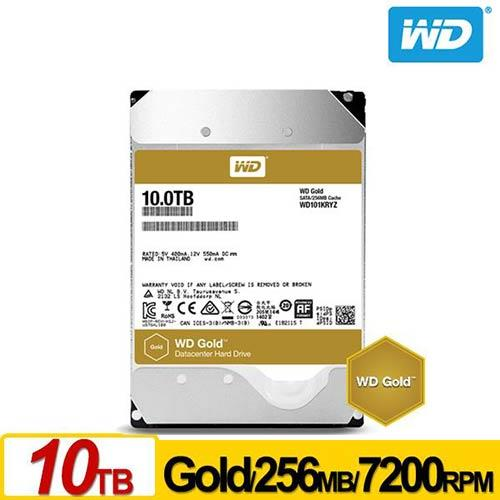 WD 金標 3.5吋 10TB SATA3 企業級硬碟 WD101KRYZ