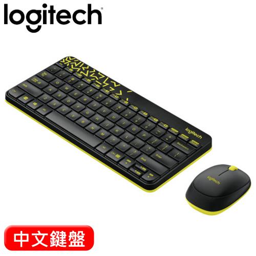 Logitech 羅技 MK240 2.4G 無線滑鼠鍵盤組 黑黃