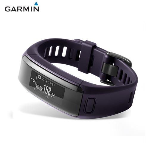 GARMIN vivosmart HR  iPass 腕式心率智慧手環(神秘紫)