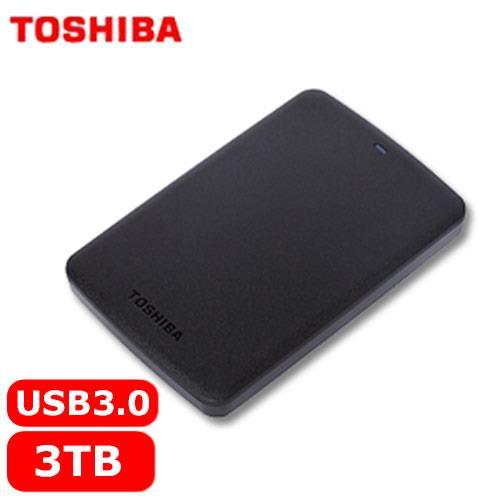 TOSHIBA 東芝 A2 Basic 2.5吋 3TB 行動硬碟 黑