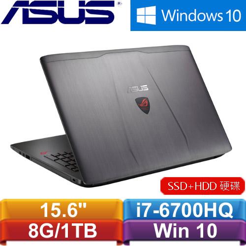 ASUS華碩 ROG GL552VL-0023B6700HQ 15.6吋電競筆記型電腦