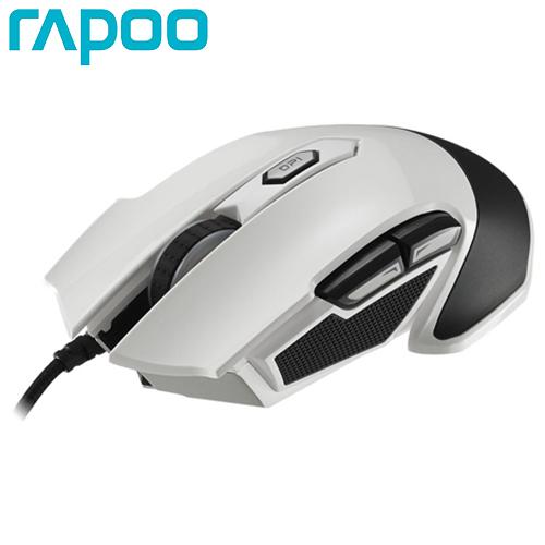 Rapoo 雷柏 VPRO V310 全彩RGB電競雷射遊戲滑鼠 白