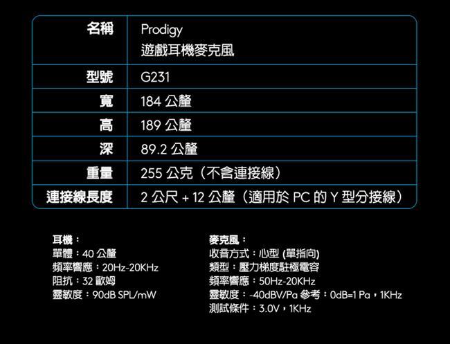 Logitech G231 遊戲等級的高品質立體聲音效 |EcLife良興購物網