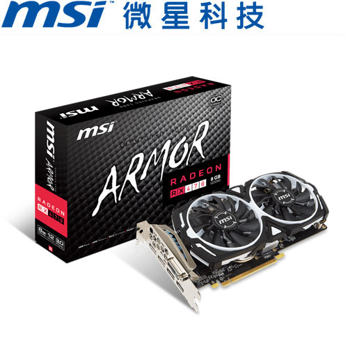 MSI微星 Radeon RX 470 ARMOR 8G OC 顯示卡