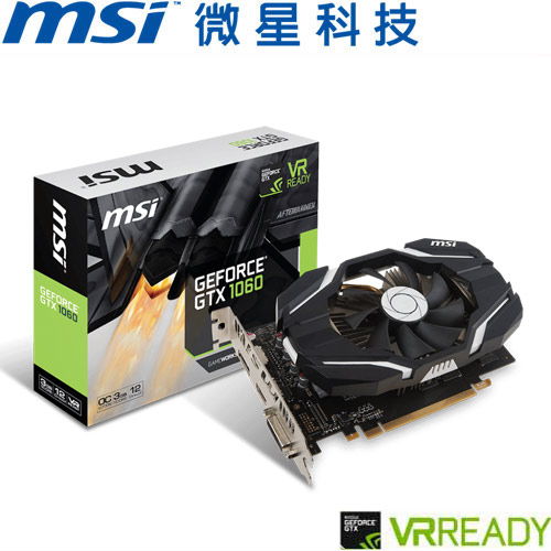 MSI微星 GeForce® GTX 1060 3G OCV1 顯示卡