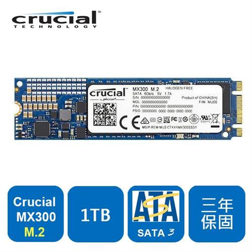 Micron Crucial MX300 1TB ( M.2 Type 2280SS ) SSD