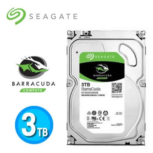 Seagate Barracuda Desktop HDD 3.5吋 SATA3 3TB桌上型硬碟機