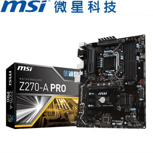MSI微星 Z270-A PRO 主機板