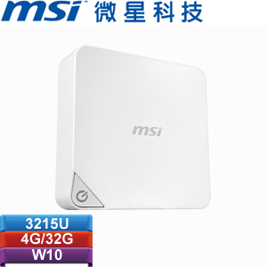 【限量1台】MSI微星 Cubi-W3215U4G03X10MB 迷你電腦