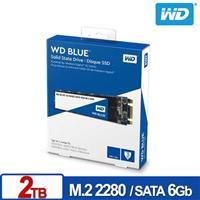 WD SSD 2TB M.2 SATA 3D NAND固態硬碟(藍標)