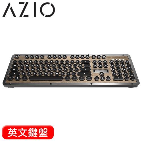 azio retro classic elwood 核桃木 复古打字机键盘
