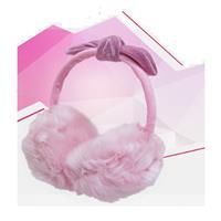 時尚絨毛耳罩耳機麥克風(韓流限定版)-粉紅