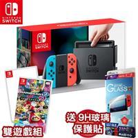 任天堂 Nintendo Switch 主機 紅藍+瑪利歐賽車8豪華版+1-2-Switch 公司貨