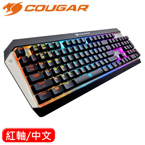 COUGAR 美洲獅 Attack X3 RGB機械鍵盤 Cherry 紅軸