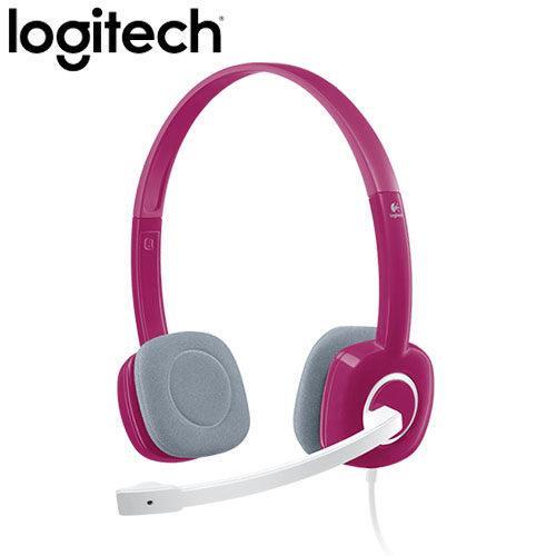 Logitech 羅技 H150 立體聲耳機麥克風 紅