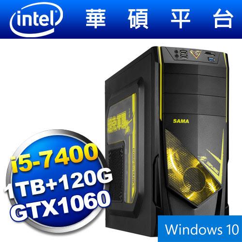 【Win10】華碩B150平台【狙擊戰機】i5四核GTX1060獨顯SSD電玩機