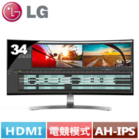 LG 34型 21:9 UltraWide曲面電競螢幕 34UC98-W