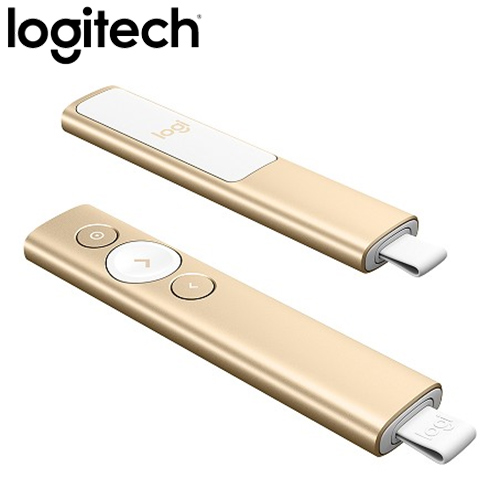 Logitech 羅技 Spotlight 簡報器 香檳金