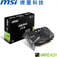 【拆封品】MSI GeForce GTX 1060 AERO 3G OC 顯示卡