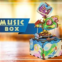 【科學玩具】發條動力音樂盒-星際銀河