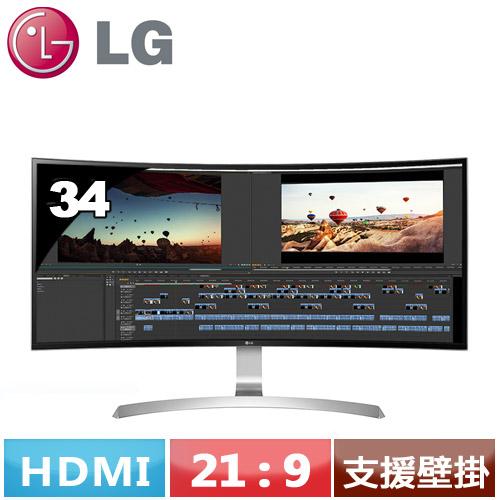 LG 34型 21:9 UltraWide曲面液晶螢幕 34UC99-W