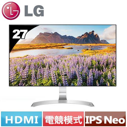LG 27型 無邊框FHD液晶螢幕 27MP89HM