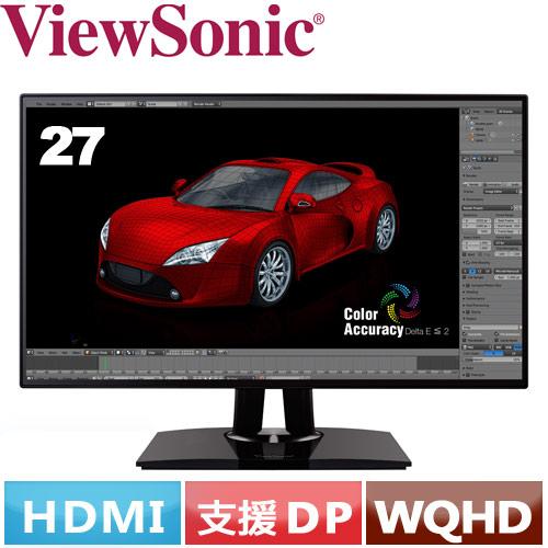 ViewSonic優派 27型 WQHD專業型液晶螢幕 VP2768