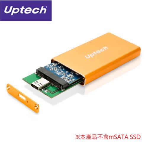 UPTECH EHE208 USB 3.1 Type-C mSATA外接盒