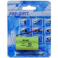 PRO-WATT P330A  2.4V1300mA鎳氫電話電池萬用頭