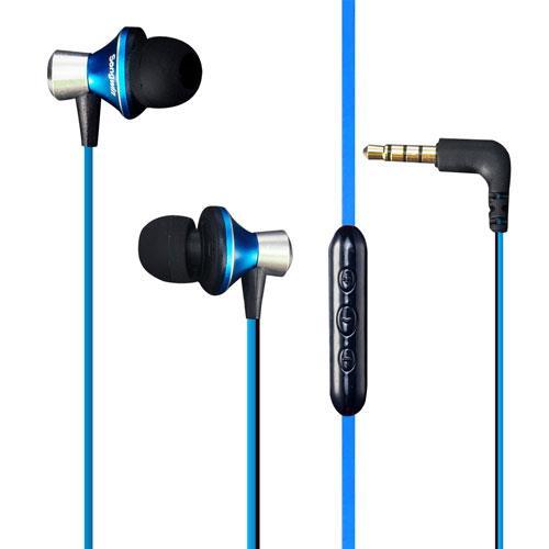 耳塞式耳機麥克風(抗噪級)-藍