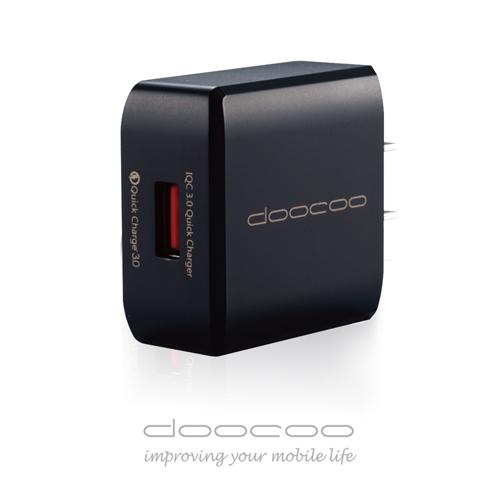 doocoo iQC 3.0 急速充  支援 充電技術 ~神秘黑