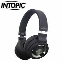 INTOPIC 摺疊藍芽耳機麥克風JAZZ-BT980-BK 黑色