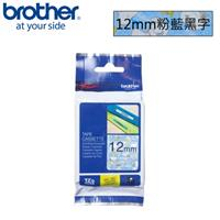 BROTHER TZe-UB31 SNOOPY護貝標籤帶粉藍