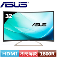 R1【福利品】ASUS華碩 VA326H 32型 VA曲面電競螢幕