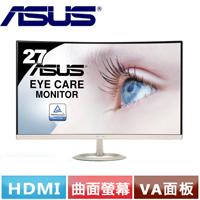 R2【福利品】ASUS華碩 VZ27VQ 27型纖薄VA曲面液晶螢幕