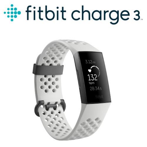Fitbit Charge 3 智慧運動手環 特別版(石墨框白色錶帶)